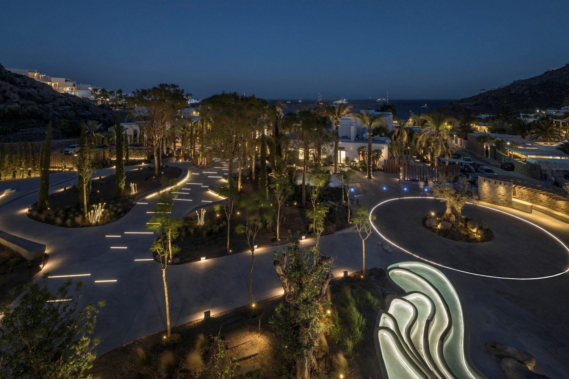 LED-Bänder Aussenbereich Nammos Village